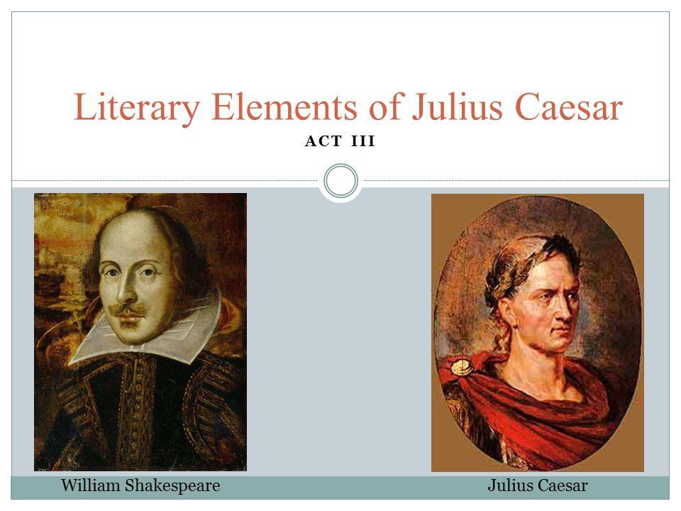 Literary Elements of Julius Caesar