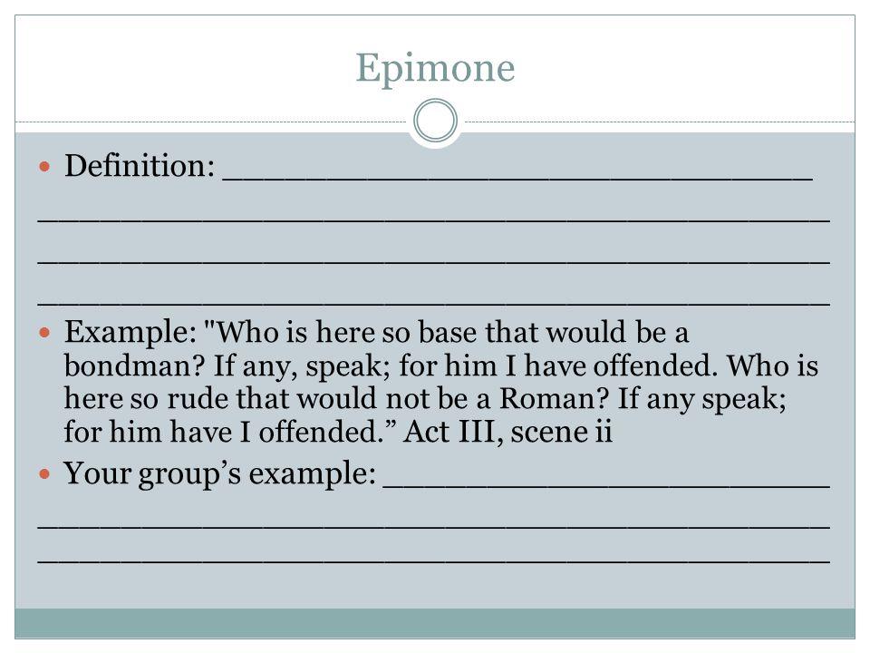 Epimone Definition: _____________________________