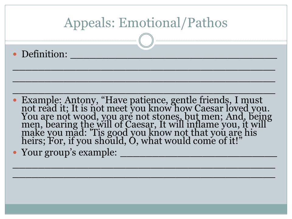Appeals: Emotional/Pathos