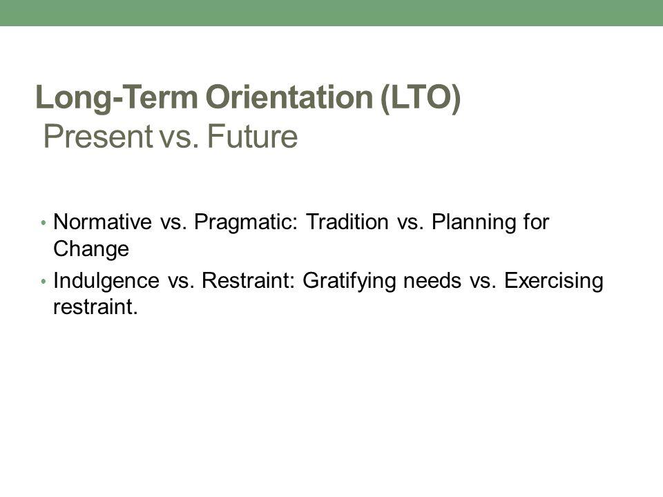Long-Term Orientation (LTO) Present vs. Future