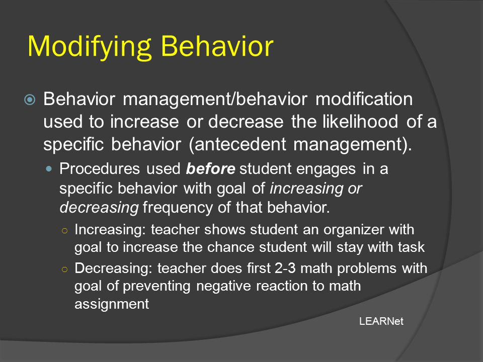 Modifying Behavior