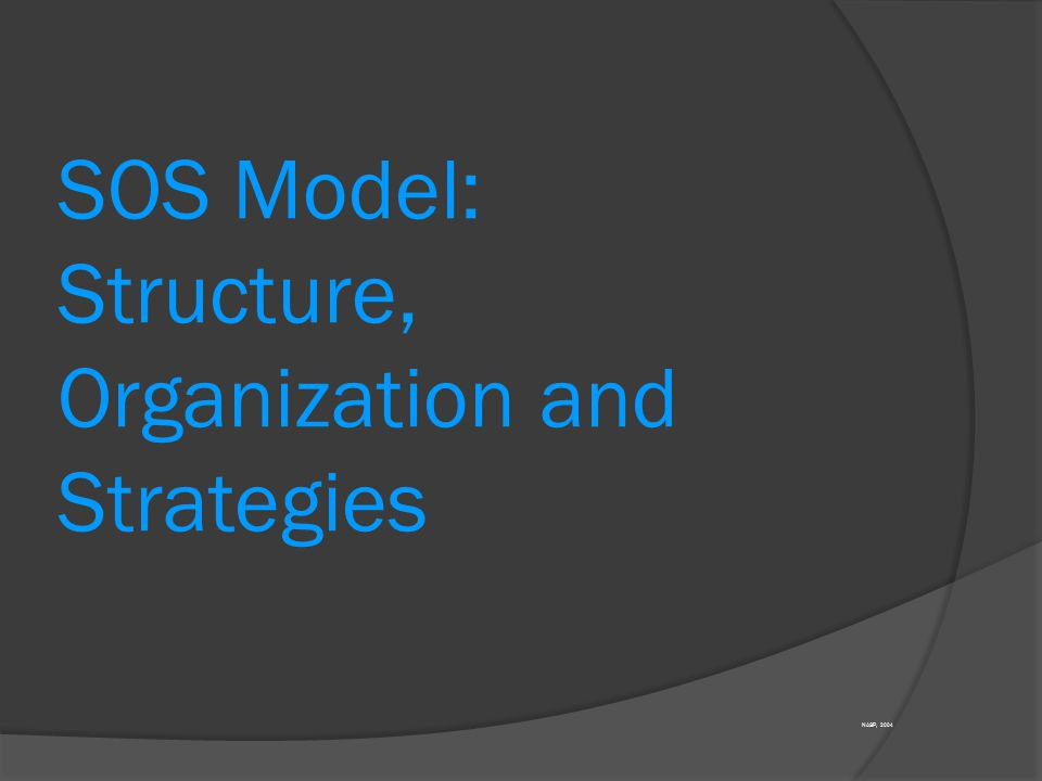 SOS Model: Structure, Organization and Strategies
