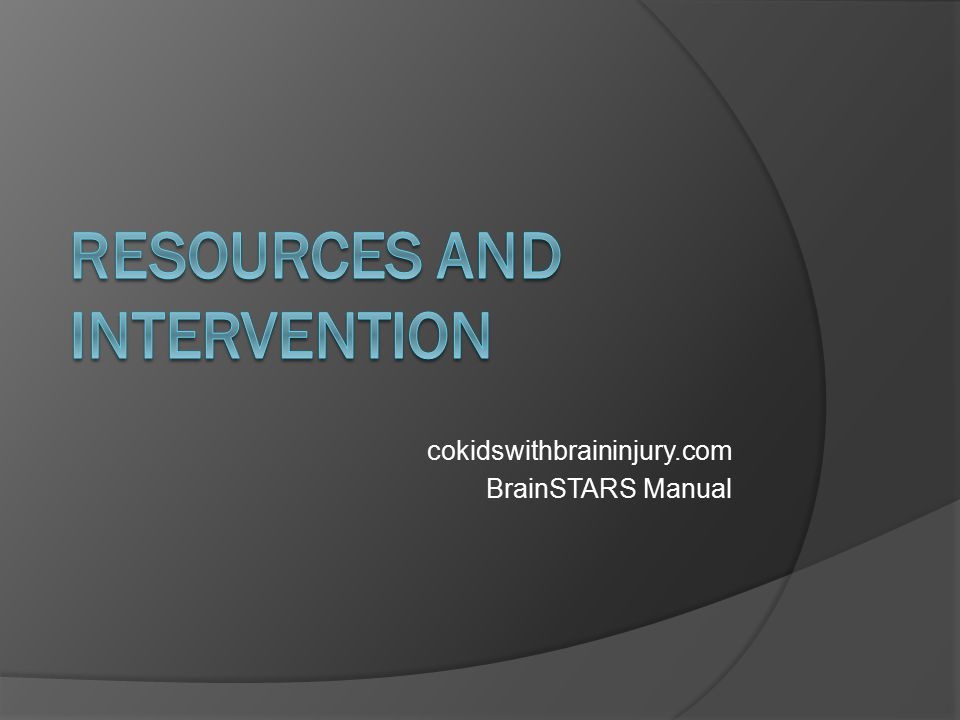RESOURCES AND INTERVENTION