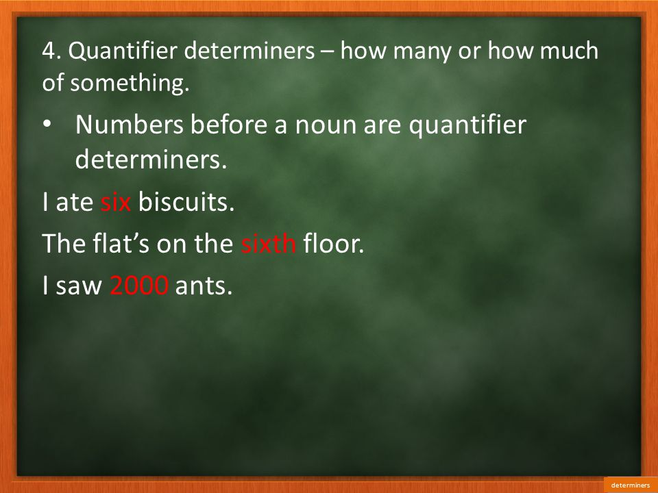 Determiners determiners ppt video online download for Is floor a noun