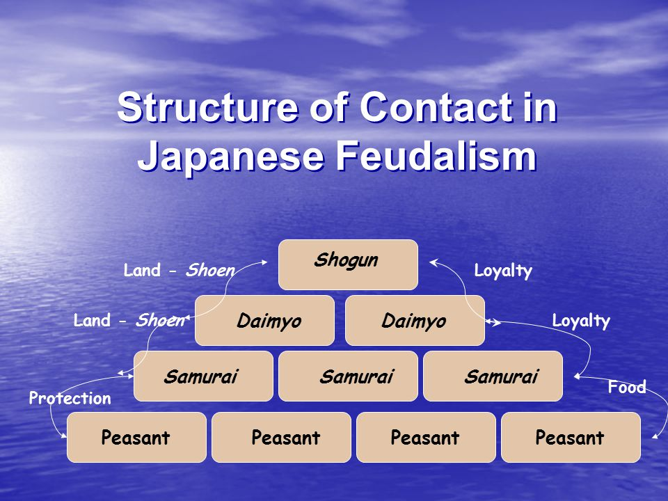 Structure of Contact in Japanese Feudalism