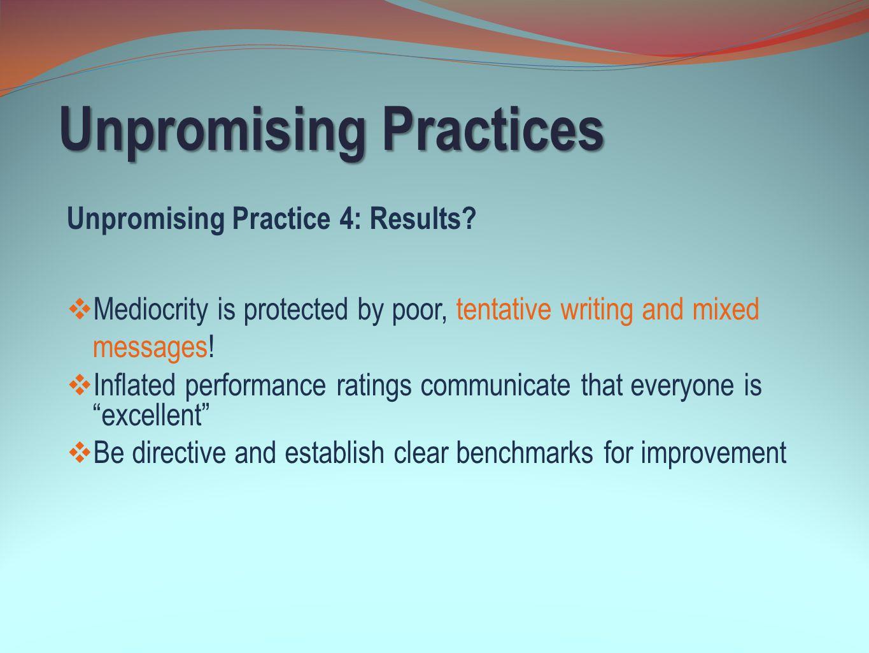 Unpromising Practices