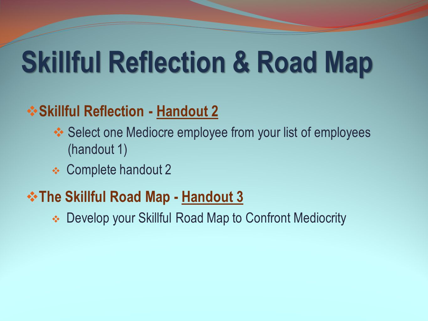 Skillful Reflection & Road Map