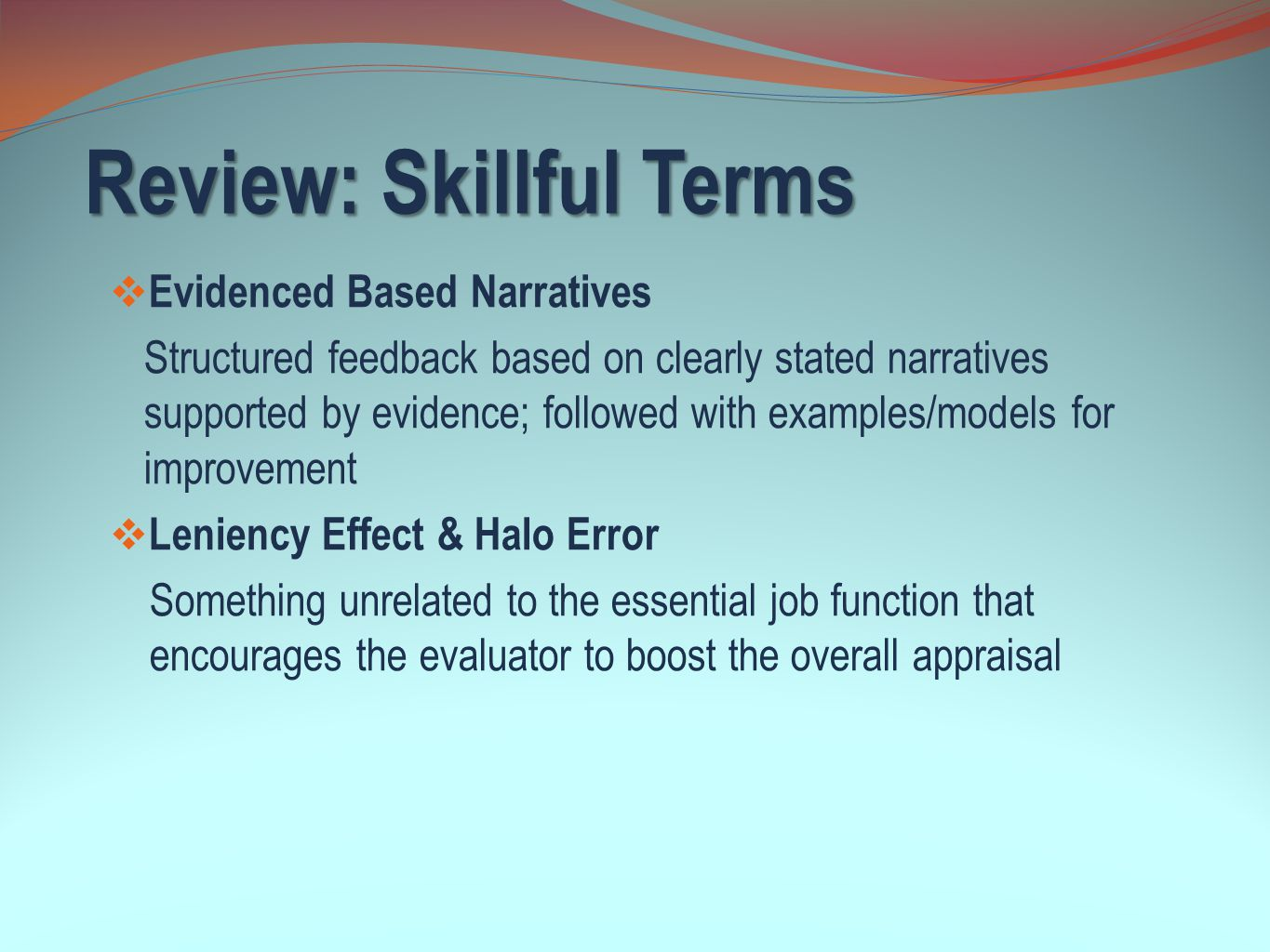 Review: Skillful Terms