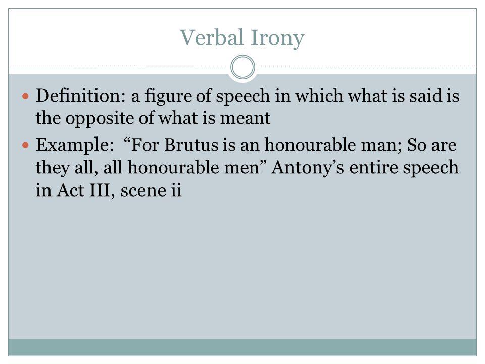 an analysis of irony