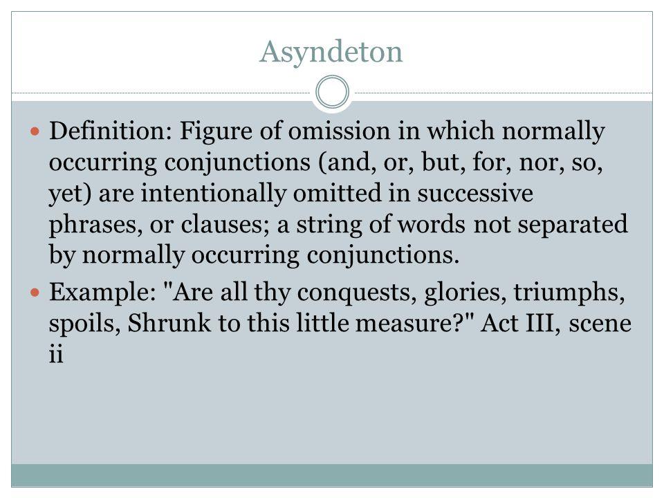 Asyndeton