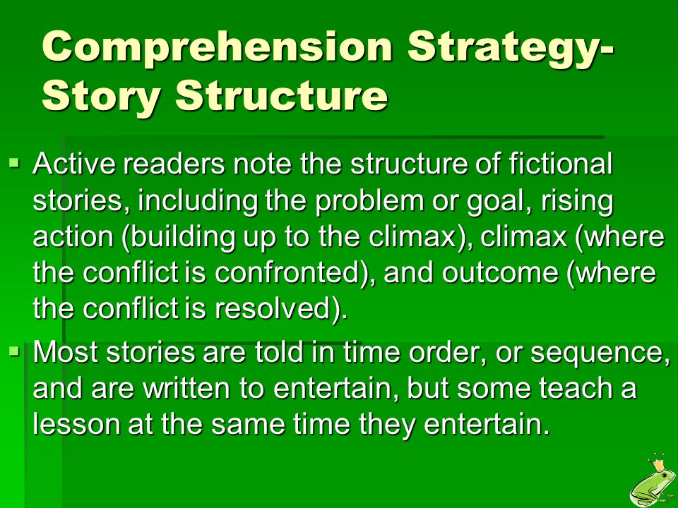 Comprehension Strategy- Story Structure