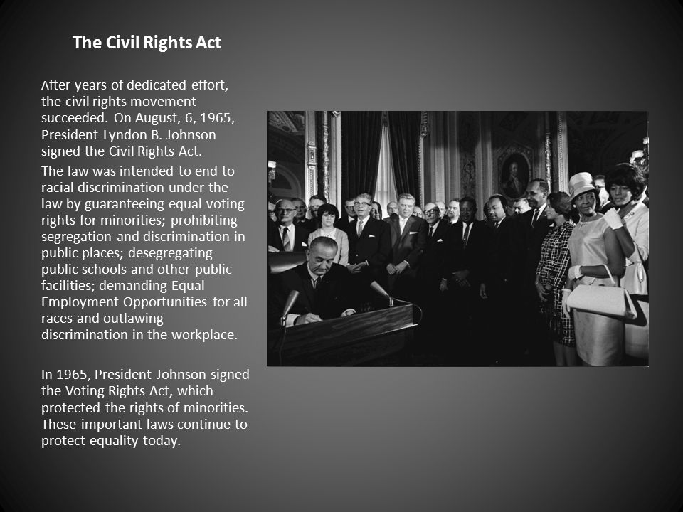 The Civil Rights Act