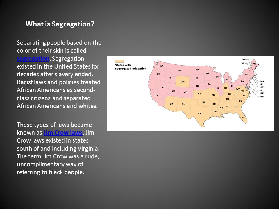 What is Segregation