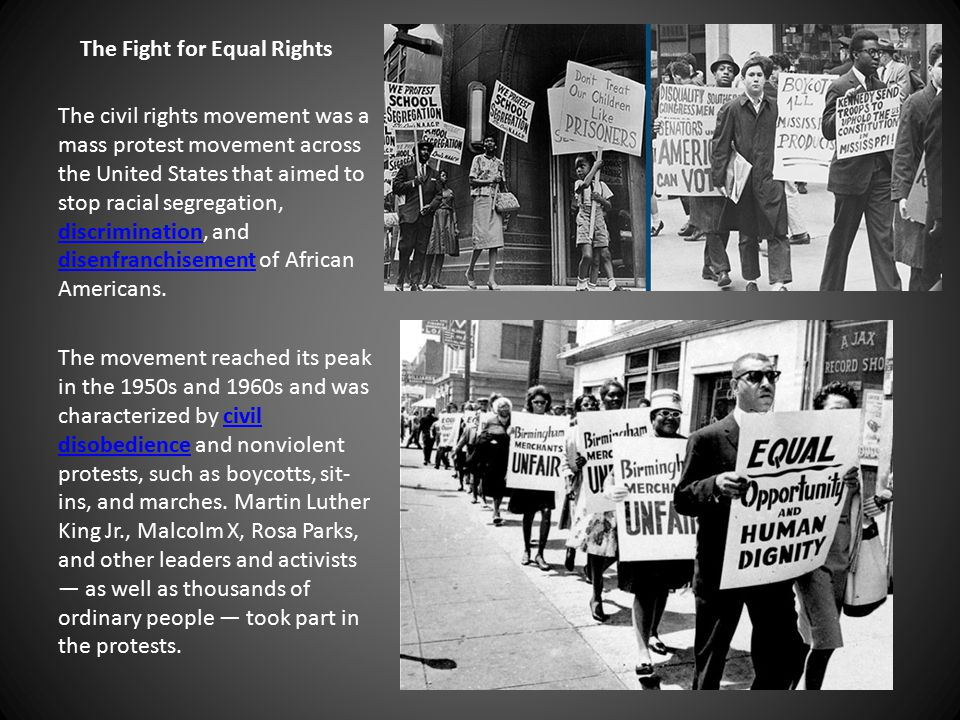 The Fight for Equal Rights