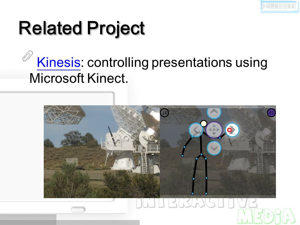 Related Project Kinesis: controlling presentations using Microsoft Kinect.