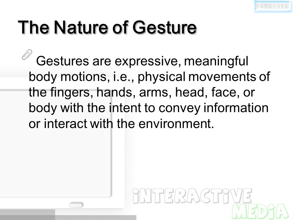 The Nature of Gesture