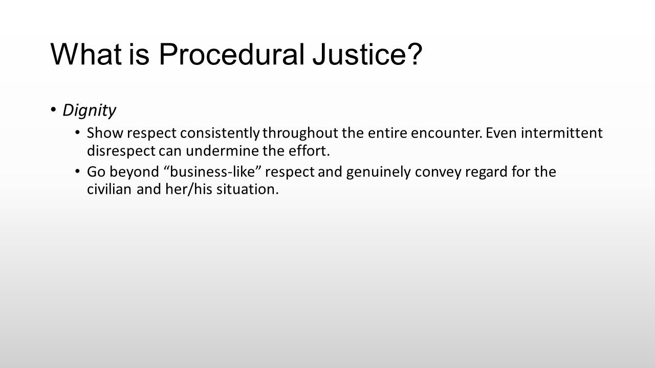 What is Procedural Justice