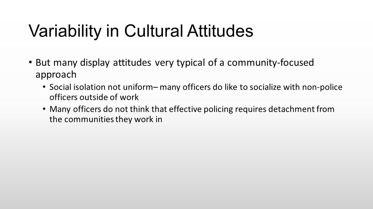 Variability in Cultural Attitudes