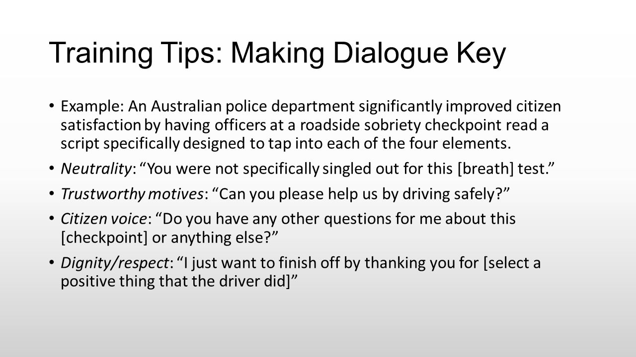 Training Tips: Making Dialogue Key