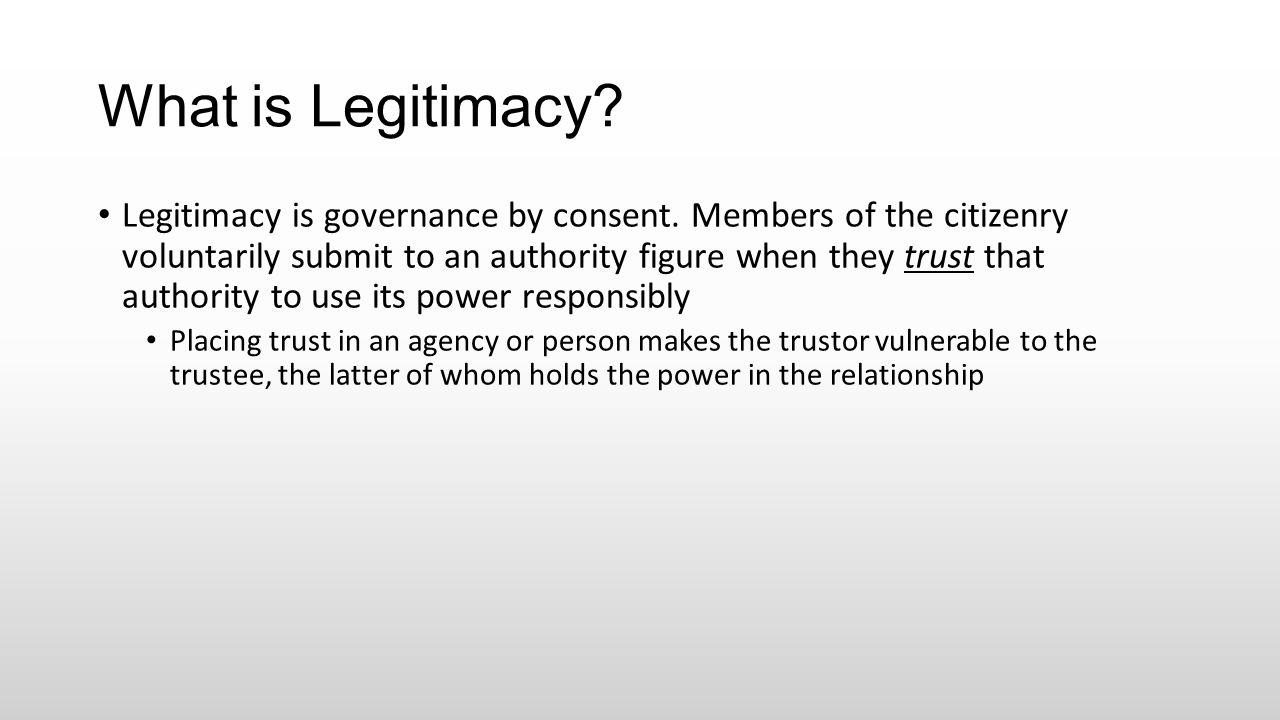 What is Legitimacy