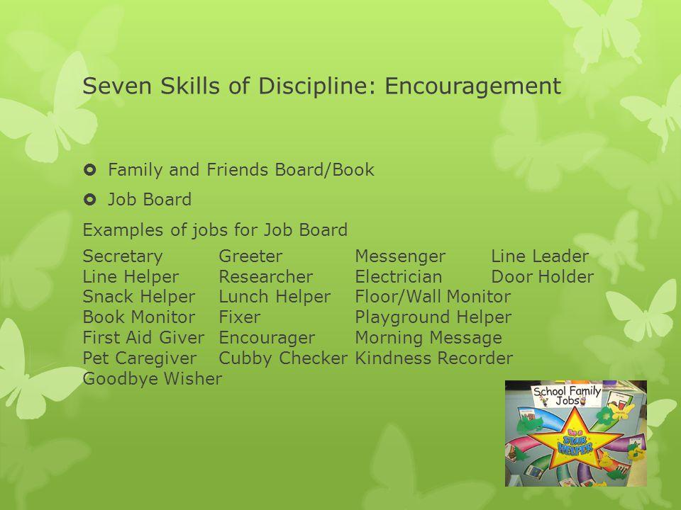 Seven Skills of Discipline: Encouragement