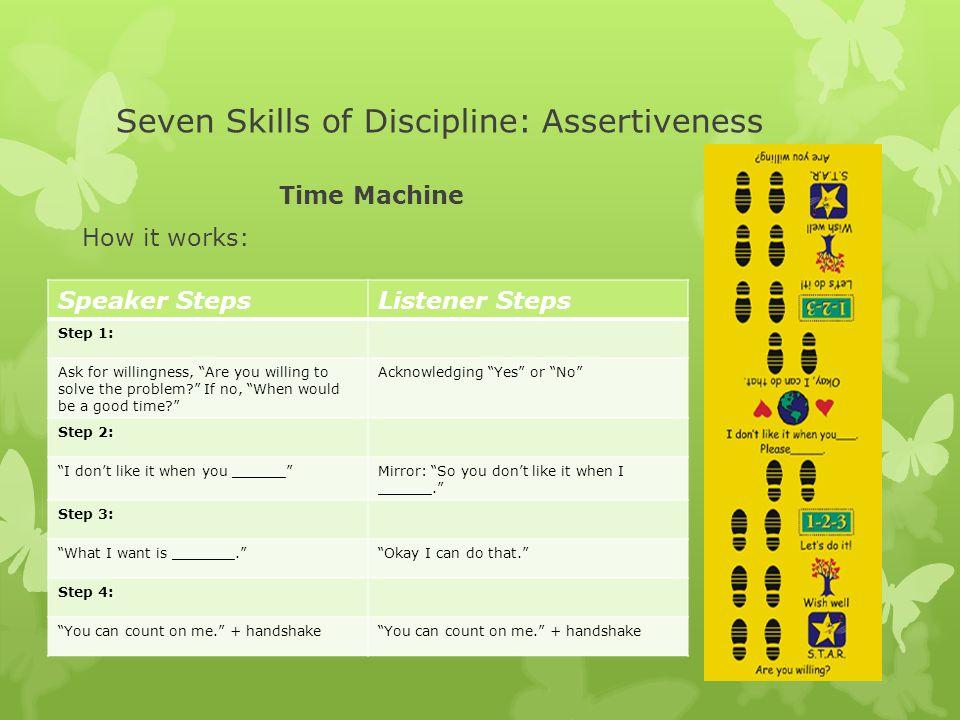 Seven Skills of Discipline: Assertiveness