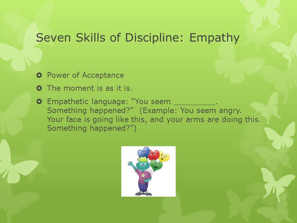 Seven Skills of Discipline: Empathy
