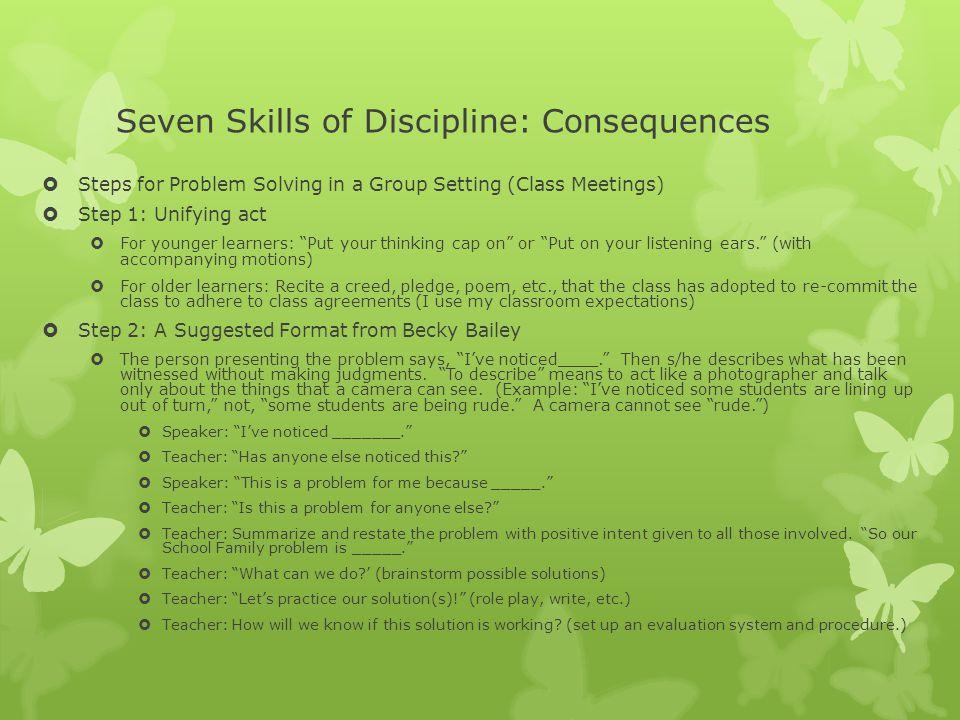 Seven Skills of Discipline: Consequences