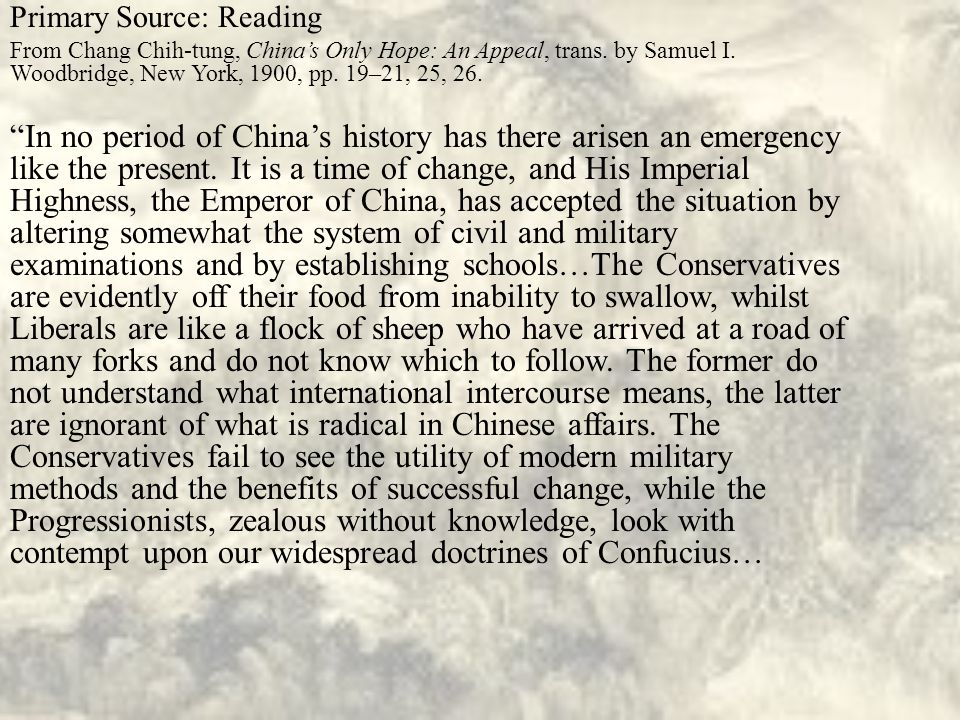 Primary Source: Reading