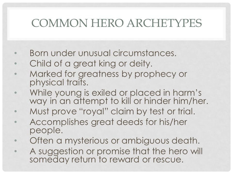 Common Hero Archetypes