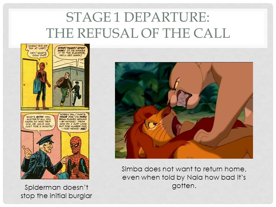 Stage 1 Departure: The Refusal of the Call