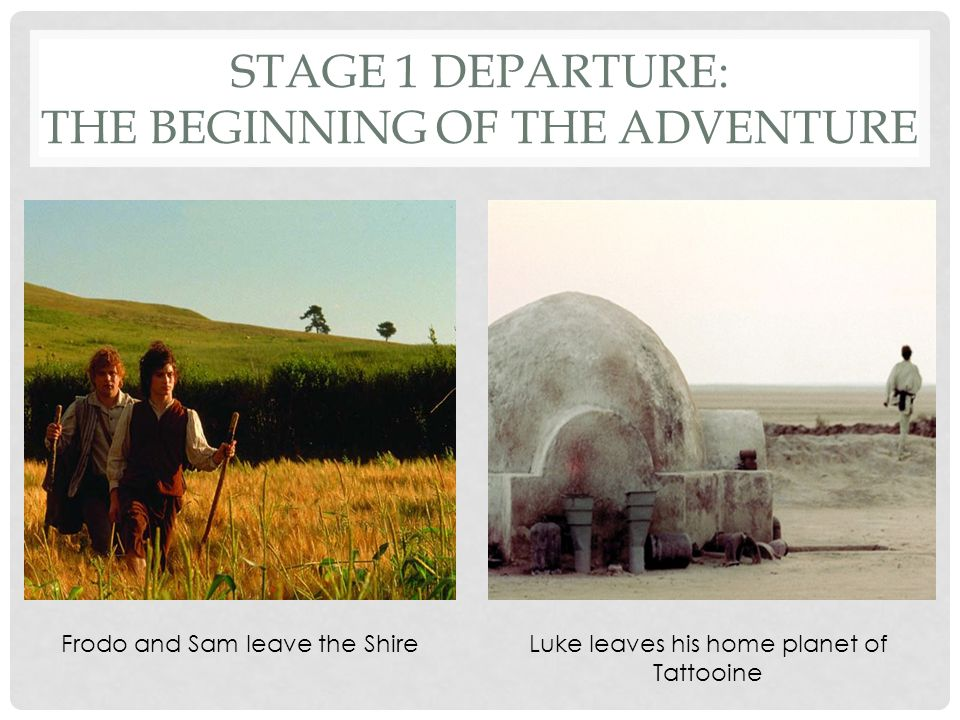 Stage 1 Departure: The Beginning of the Adventure