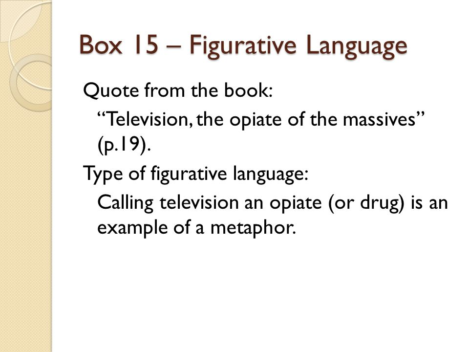 Box 15 – Figurative Language