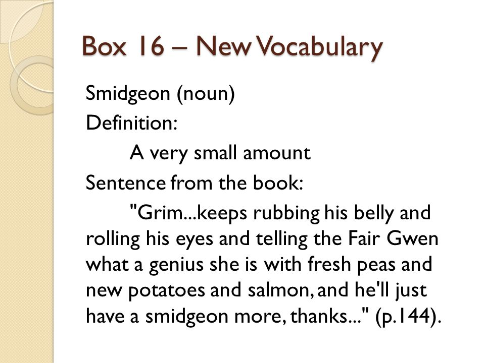 Box 16 – New Vocabulary