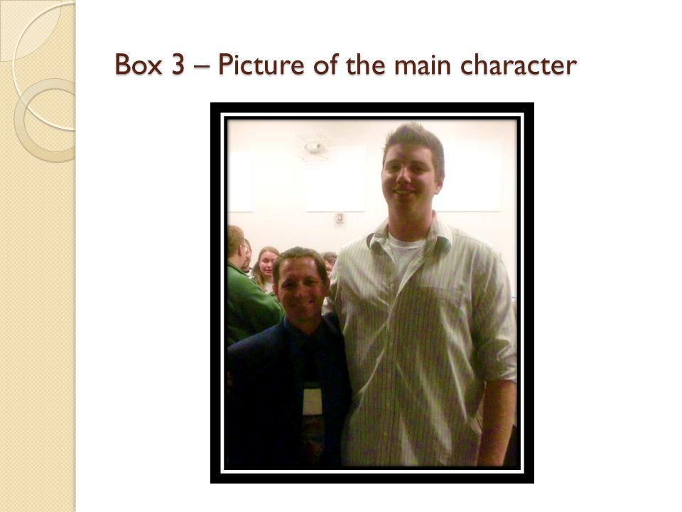 Box 3 – Picture of the main character