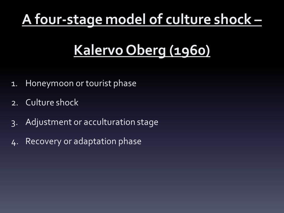 A four-stage model of culture shock –