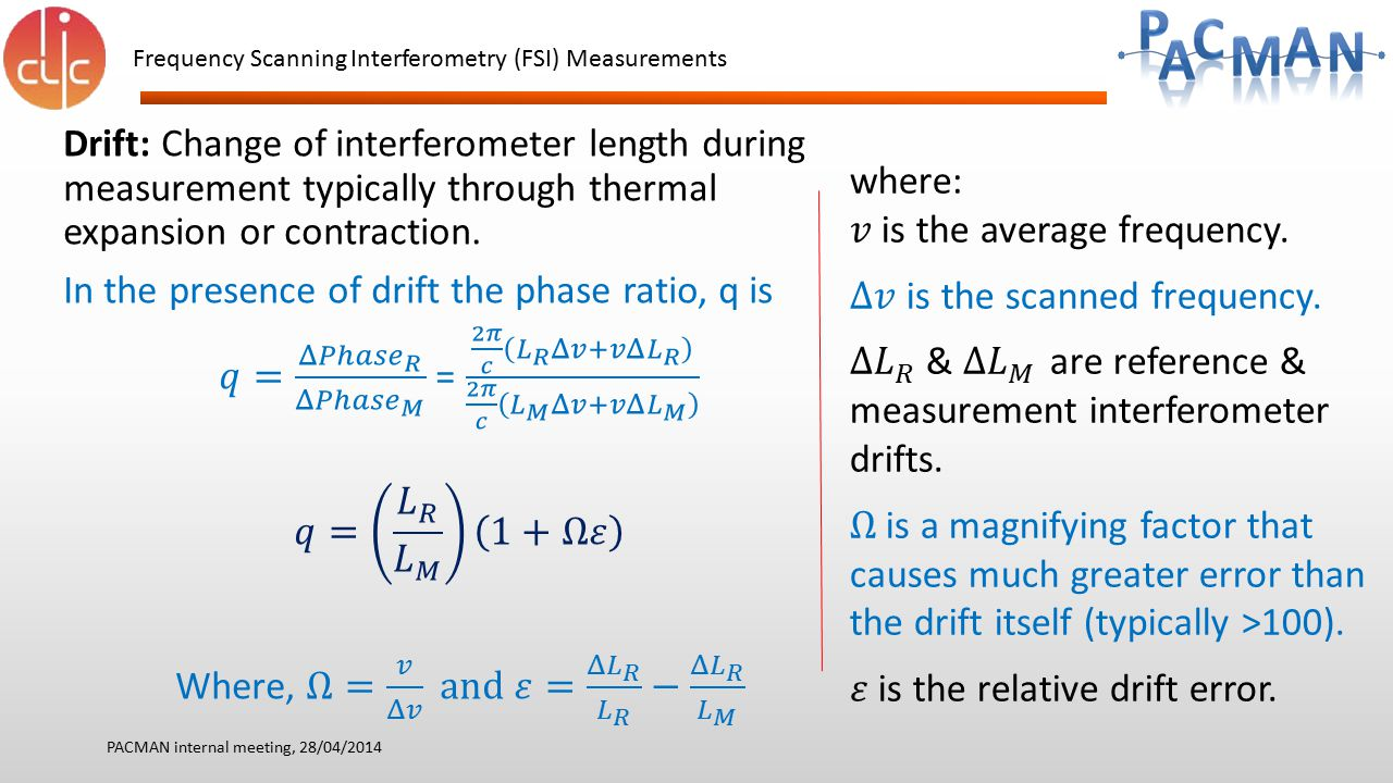 In the presence of drift the phase ratio, q is