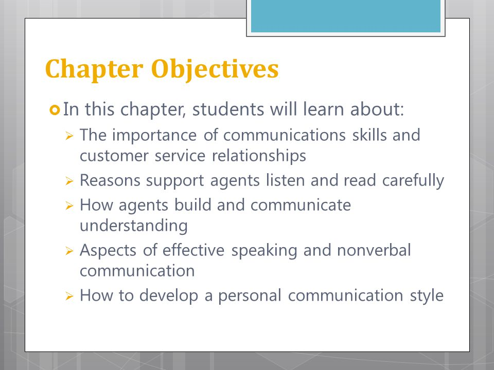 Chapter Objectives In this chapter, students will learn about: