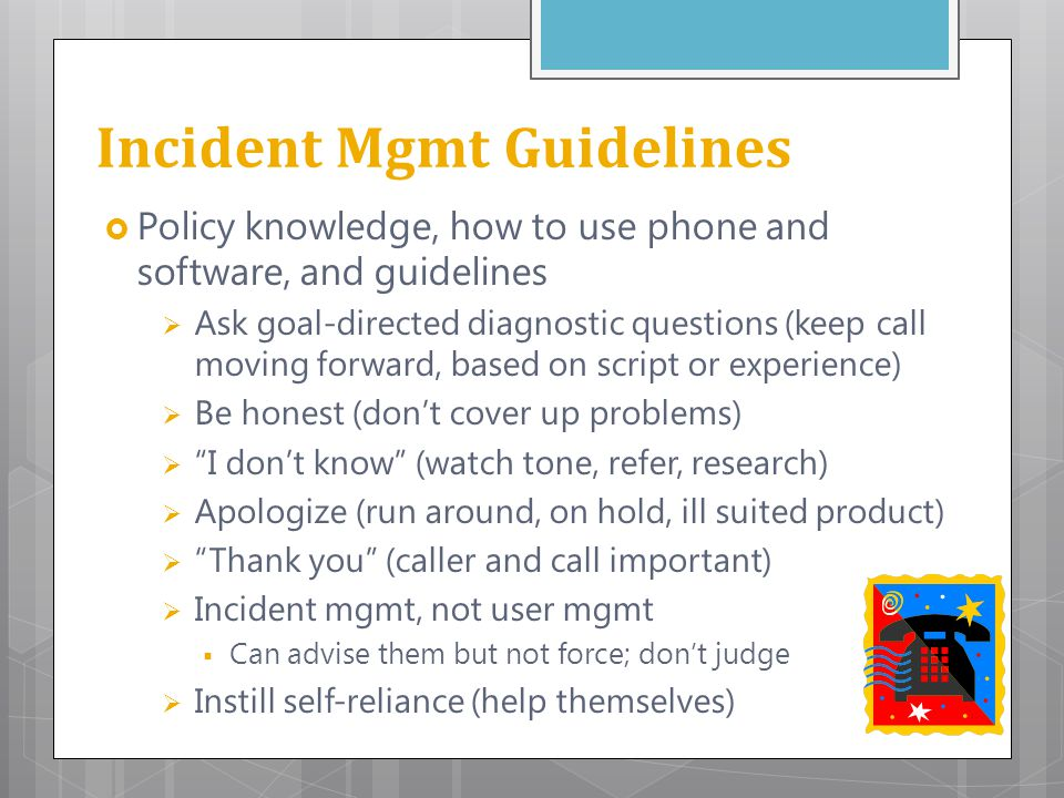 Incident Mgmt Guidelines