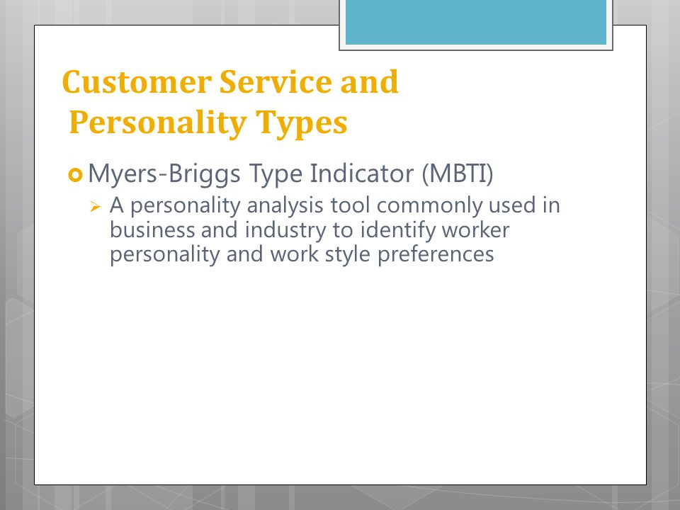 Customer Service and Personality Types
