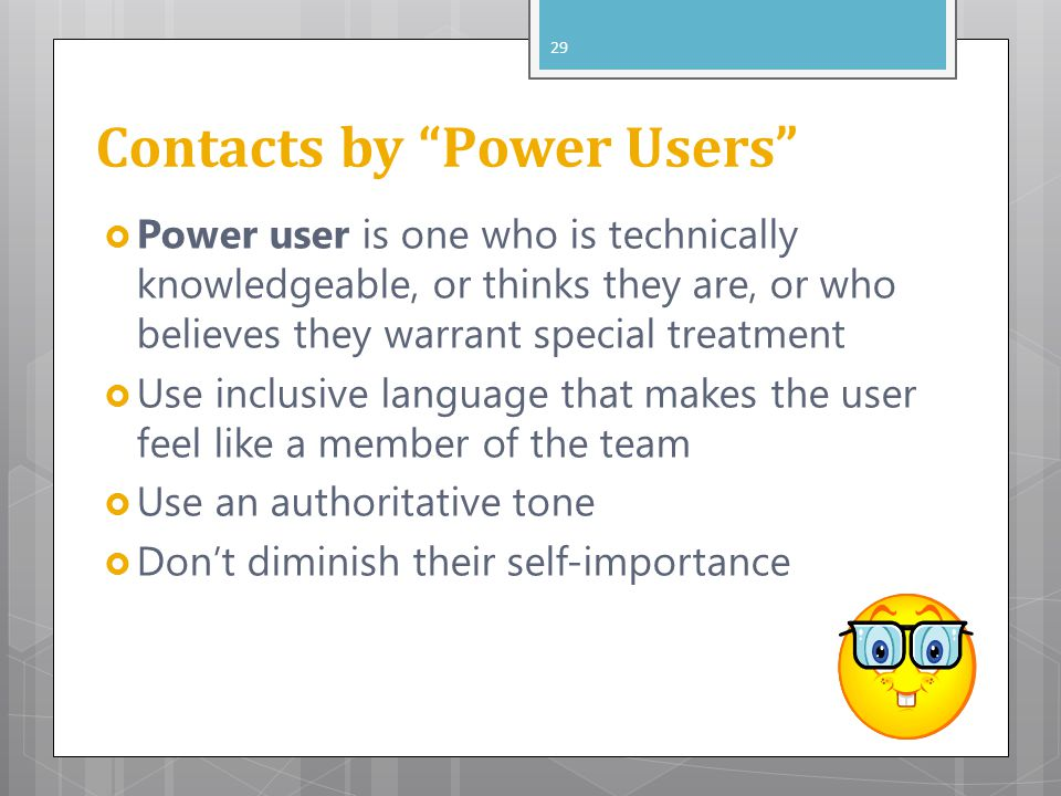 Contacts by Power Users