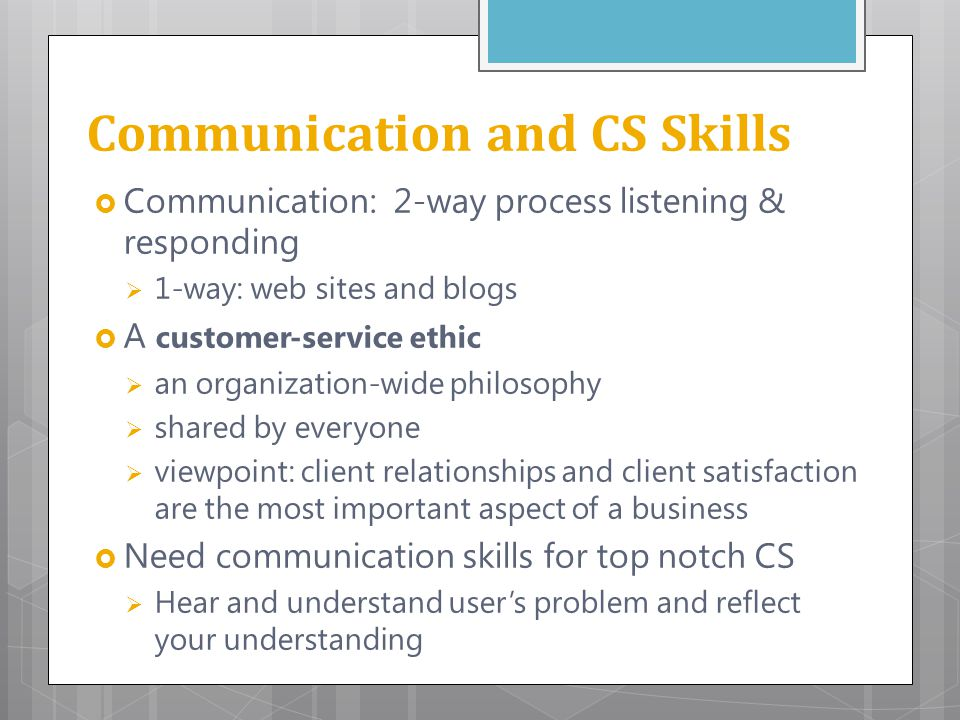 communication skills for customer service