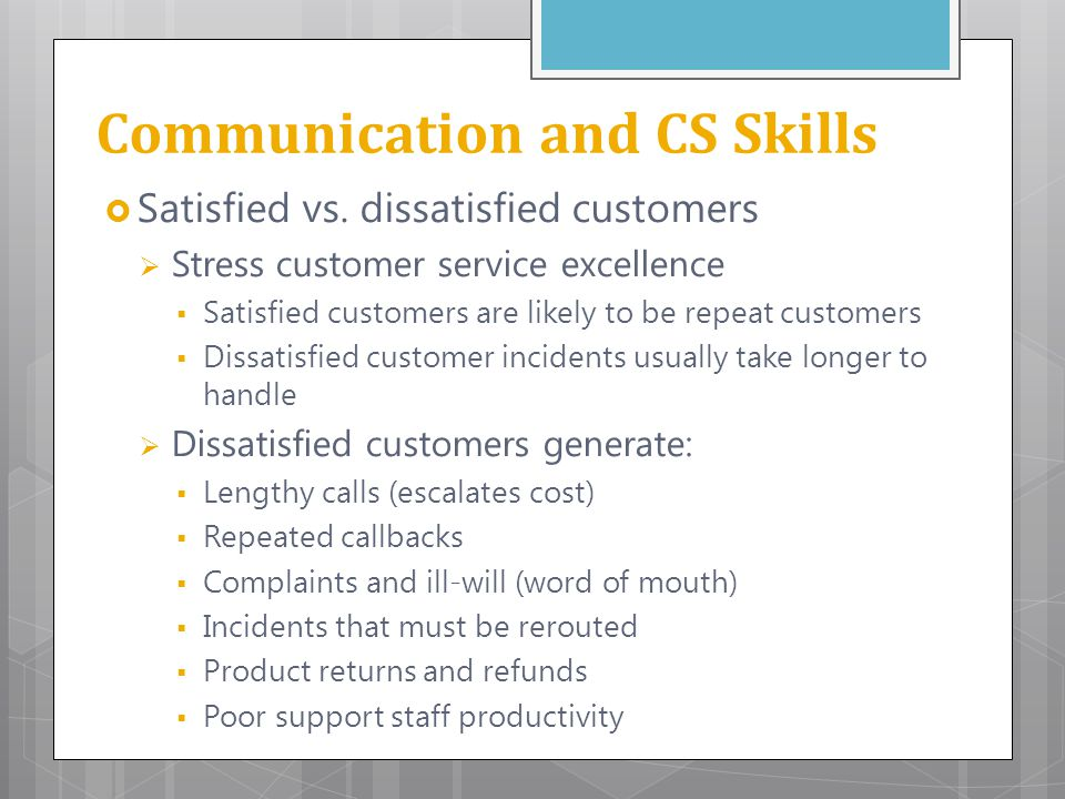 Communication and CS Skills