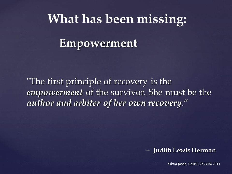 What has been missing: Empowerment