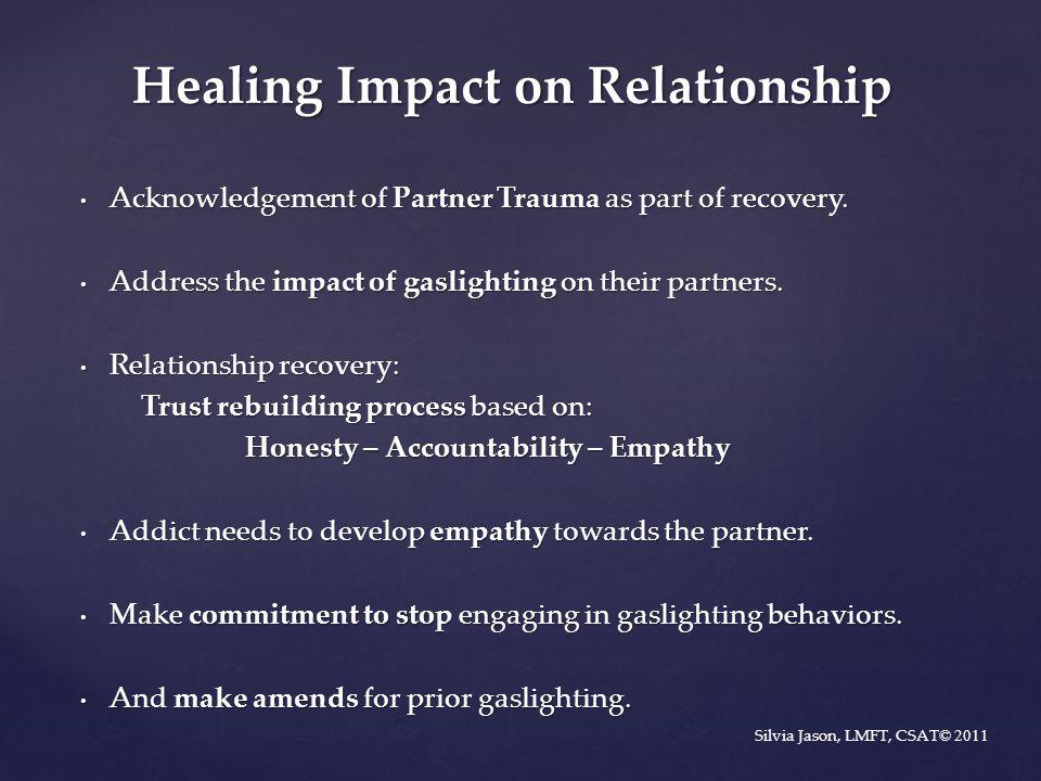 Healing Impact on Relationship