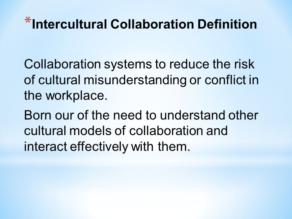 Intercultural Collaboration Definition
