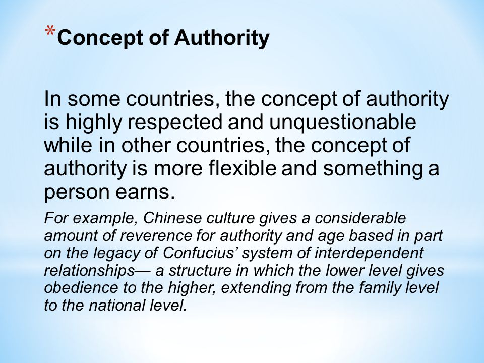 Concept of Authority
