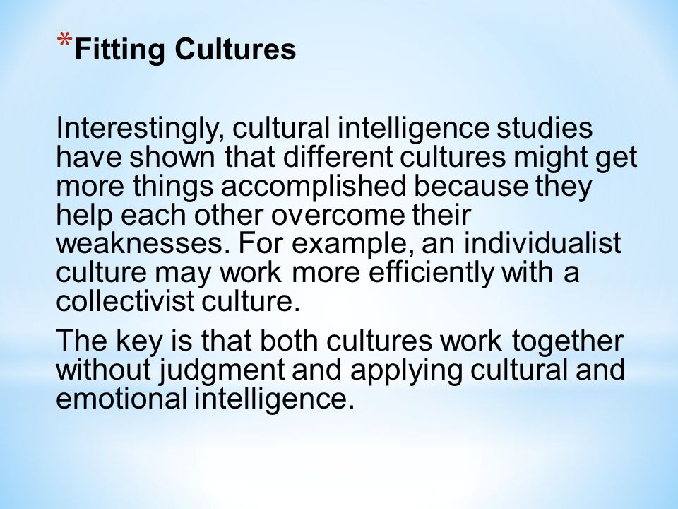 Fitting Cultures