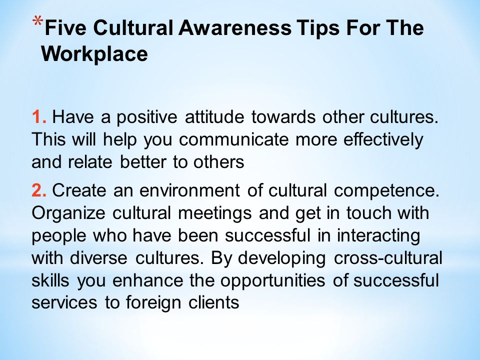 Five Cultural Awareness Tips For The Workplace