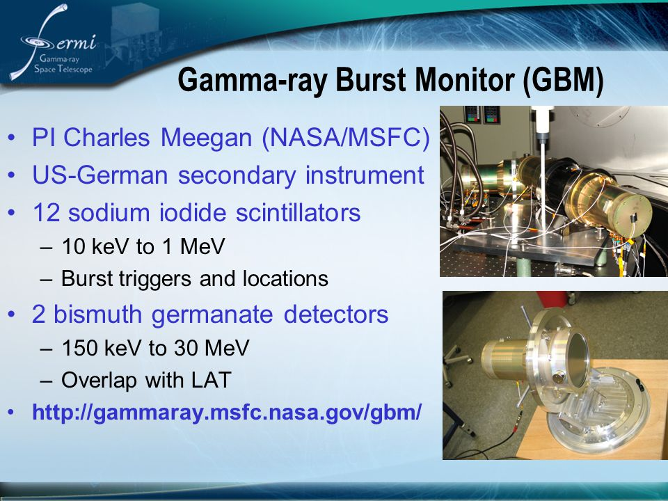 Gamma-ray Burst Monitor (GBM)